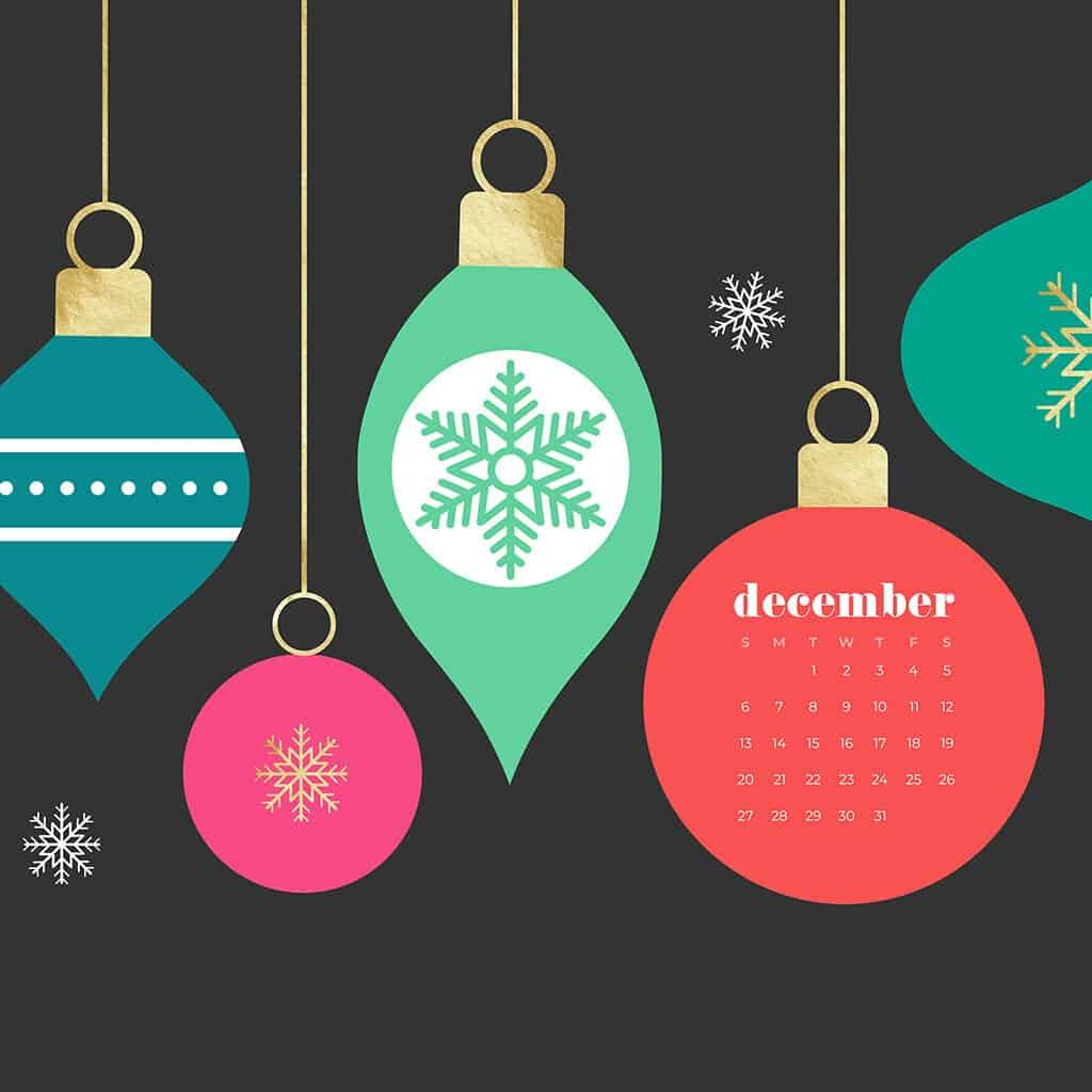 Free December 2020 calendar wallpapers
