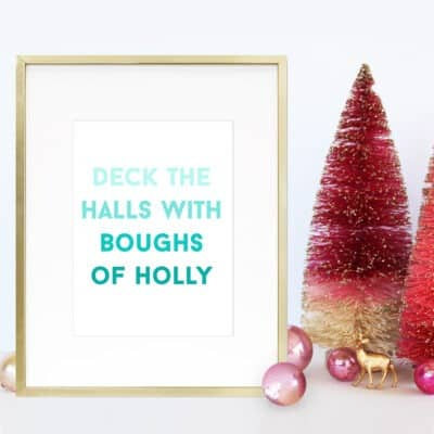 Free Christmas carol printables