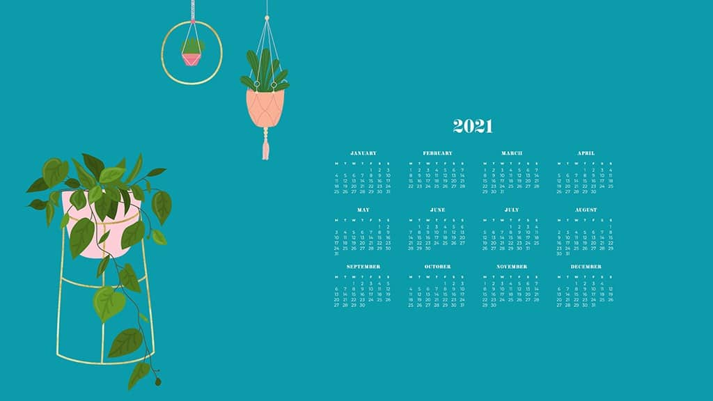 FREE 2021 wallpaper calendars – 50+ cute design options to choose from in both Sunday and Monday starts. Dress your tech for the new year!