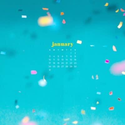 January 2021 calendar wallpapers