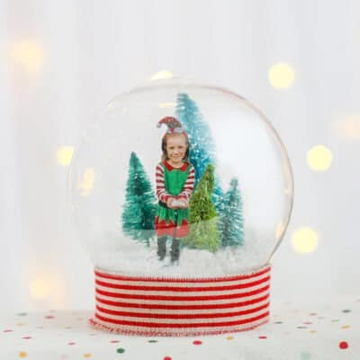 DIY personalized winter snow globe