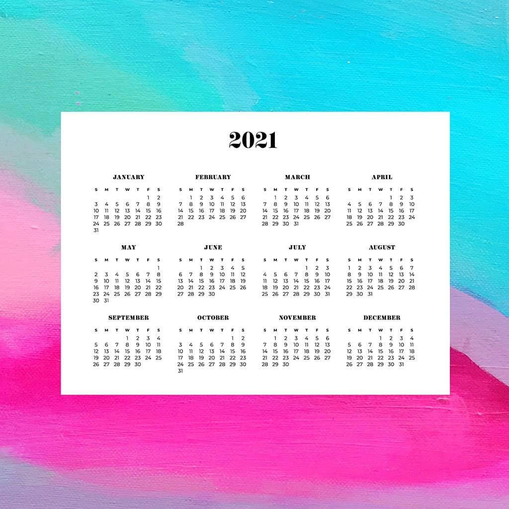 FREE 2021 wallpaper calendars