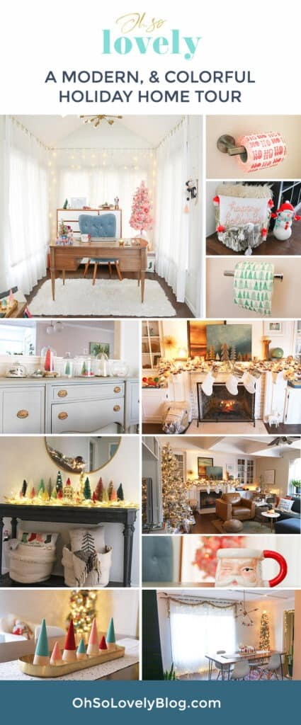 A modern and colorful holiday home tour full of affordable festivity and touches of fun throughout! Grab your hot cocoa and join me!