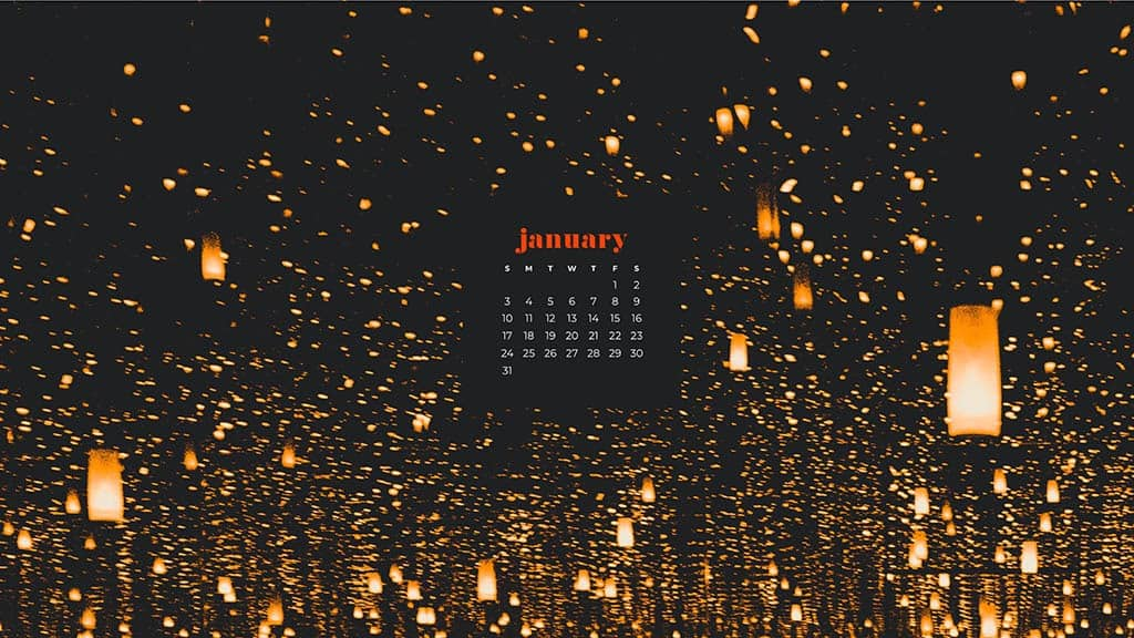 January 2021 calendar wallpapers – 30 FREE designs to choose from in Sunday and Monday starts + no calendar options for desktop and phone!