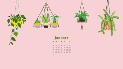 January 2021 calendar wallpapers