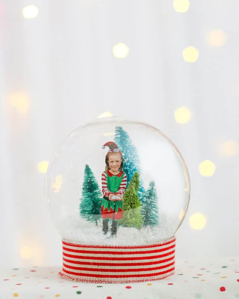 How to make a cute DIY personalized winter snow globe – perfect for a winter holiday decor, keepsake, or gift!