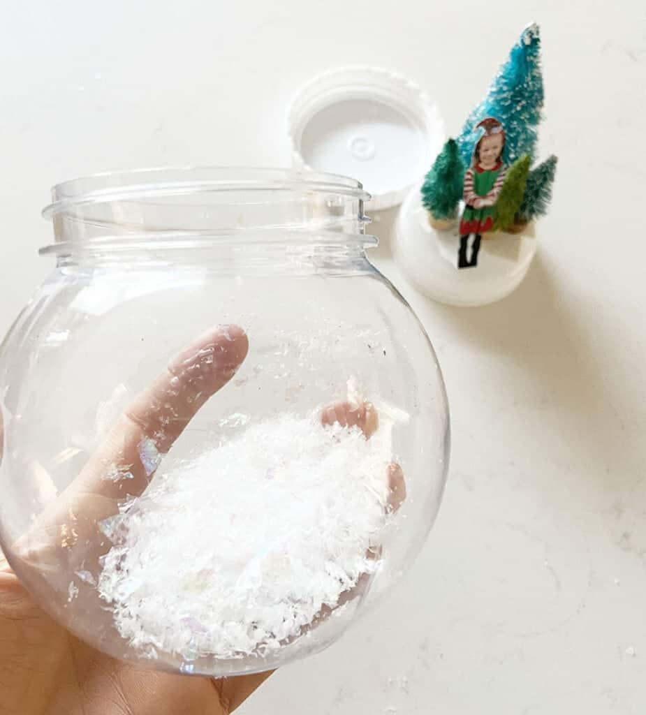 Add faux snow or epsom salt