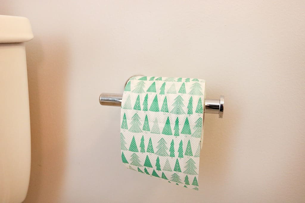 christmas holiday toilet paper
