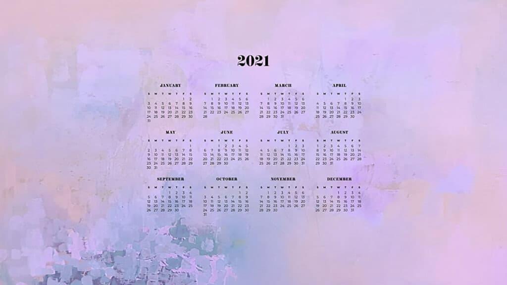 FREE 2021 wallpaper calendars - 50+ cute design options to ...