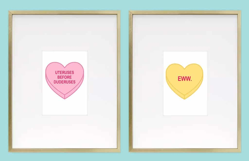 Funny Valentine Freebies – 30 FREE art and card printables, perfect for your loved ones with a sense of humor this Valentine's Day! xoxo