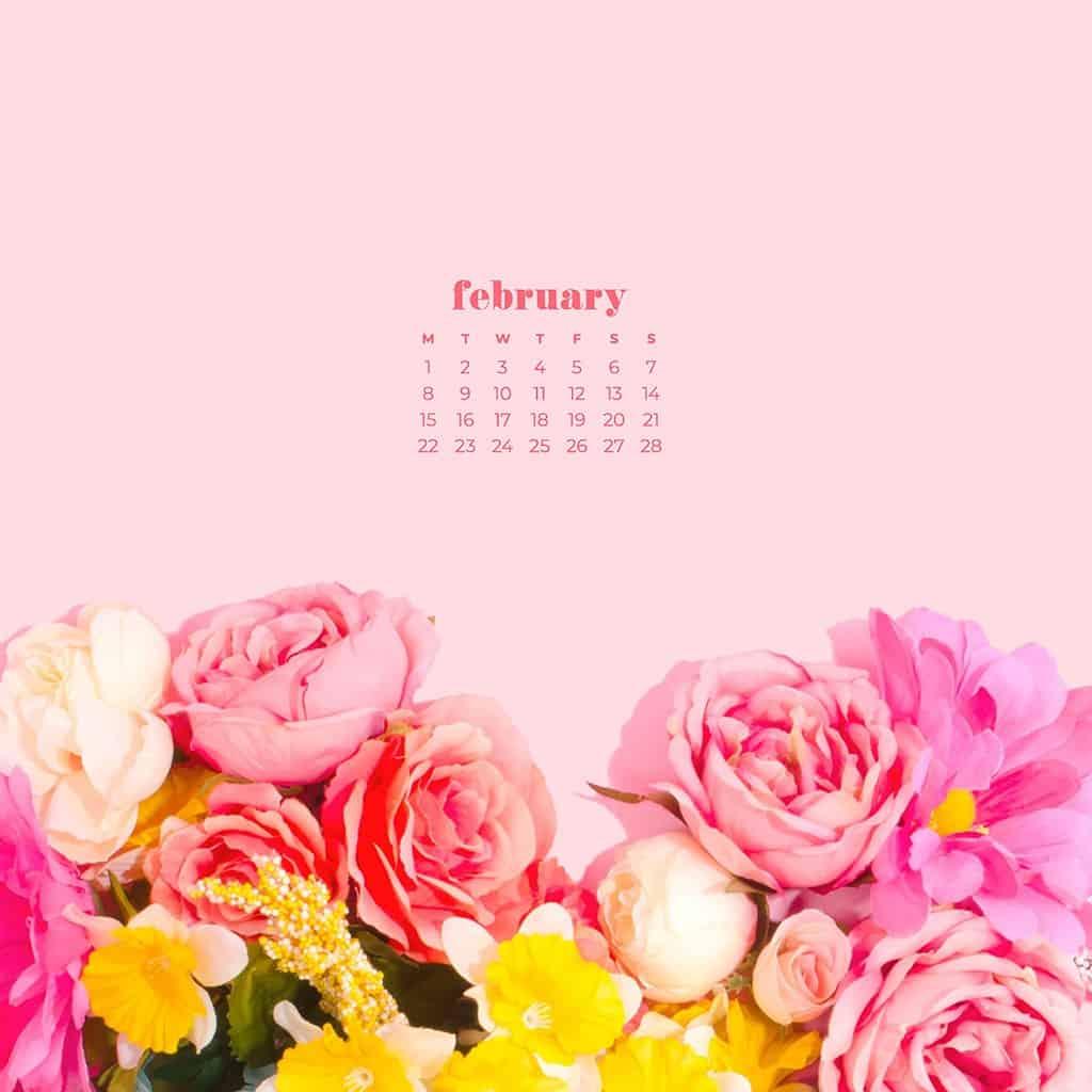 Free February 2021 calendar wallpapers