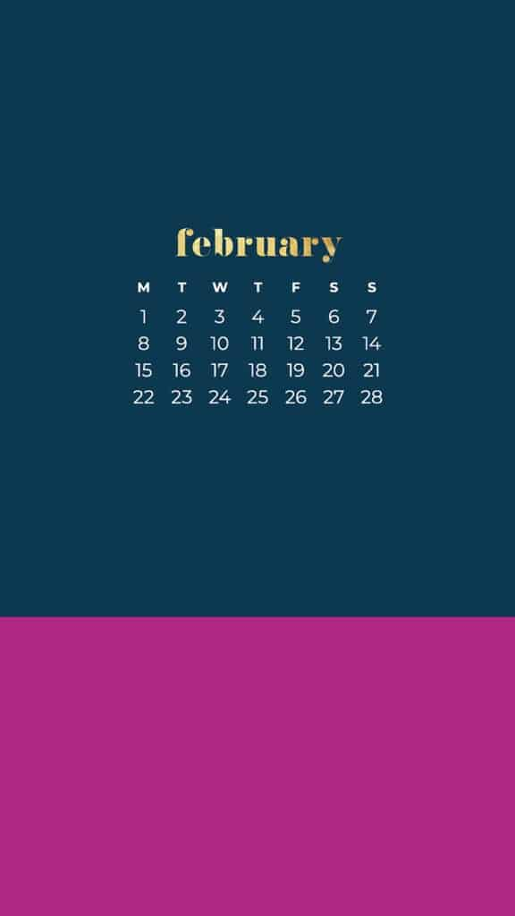 Free February 2021 calendar wallpapers