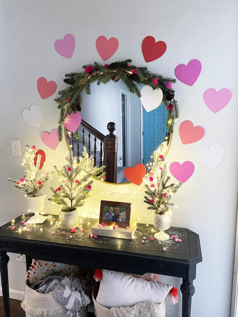 Valentine's Day entryway decorations – an easy and affordable idea!