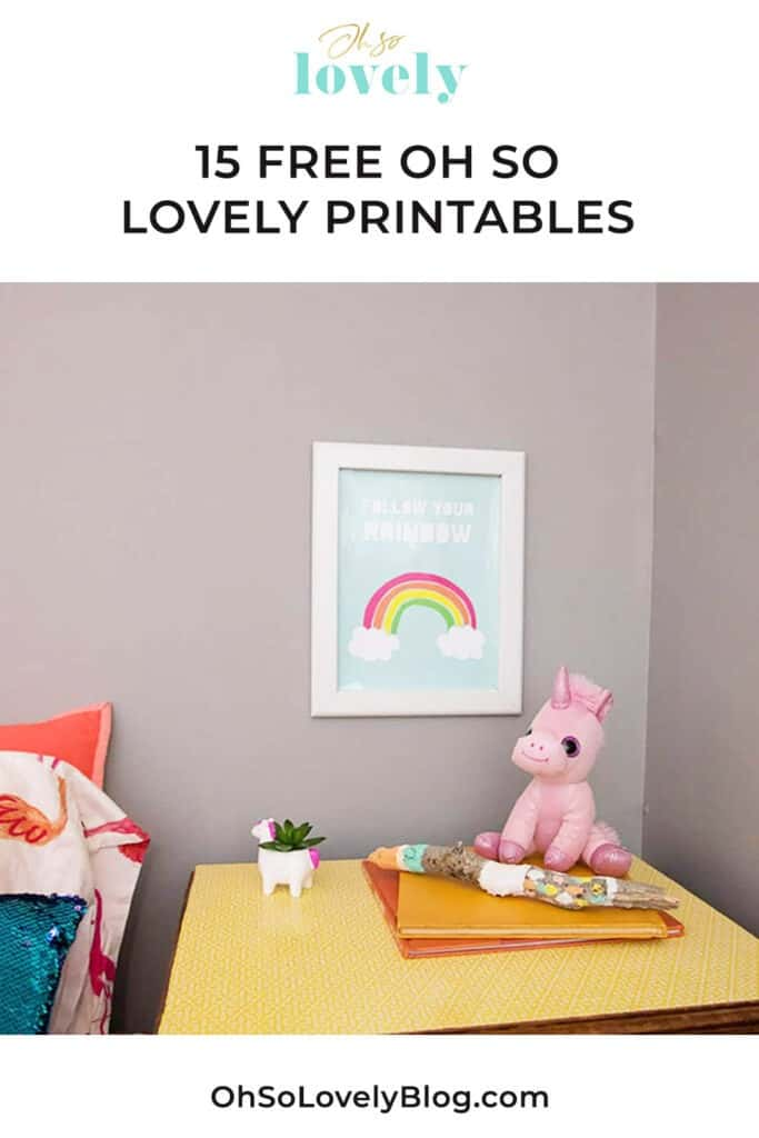 SnapeZo frames pair perfectly with 15 these Oh So Lovely free printables. There are plants, rainbows, space, and more...all free!