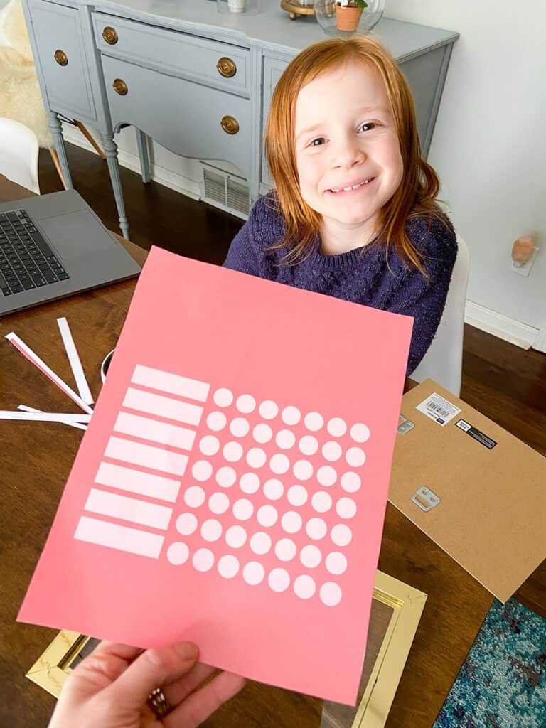 Free printable chore chart paper backer available in 8 colors