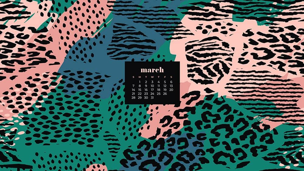 Free abstract animal print March wallpaper for desktop