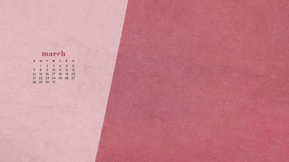 free pink textured wallpaper for March