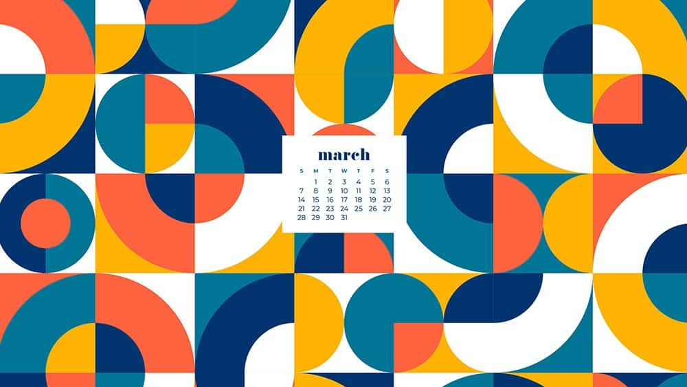 free abstract modern March wallpaper