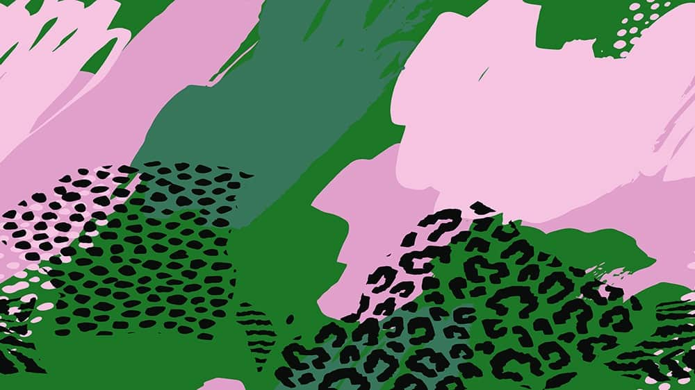 free colorful abstract desktop wallpaper pink and green