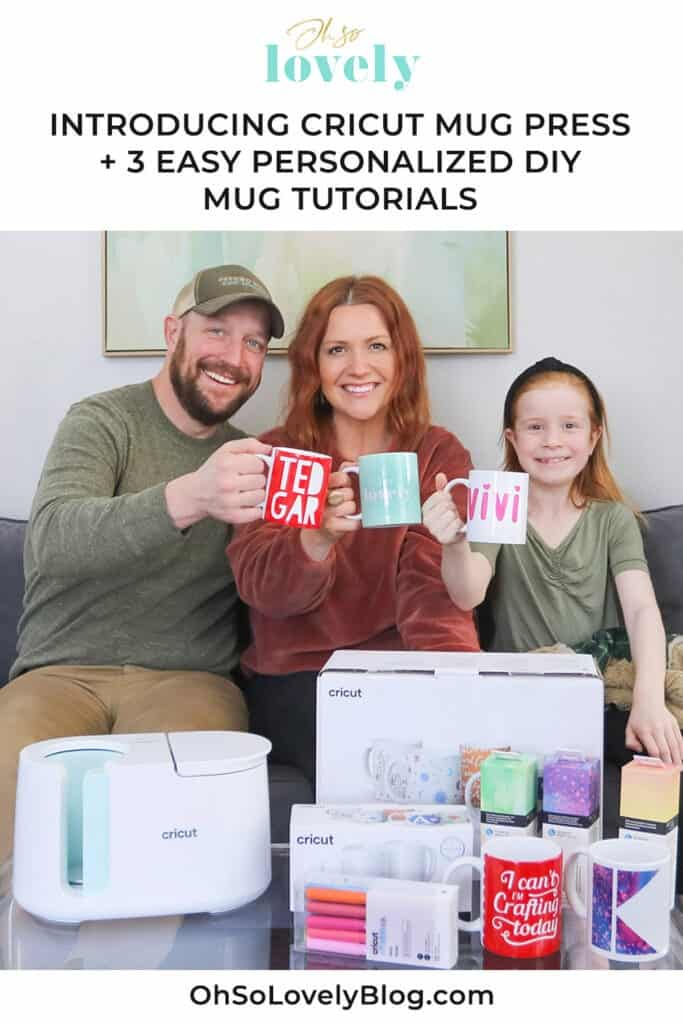 I'm so excited to share that Cricut has just launched a new product – Cricut Mug Press! Check out my 3 easy personalized mug making tutorials!
