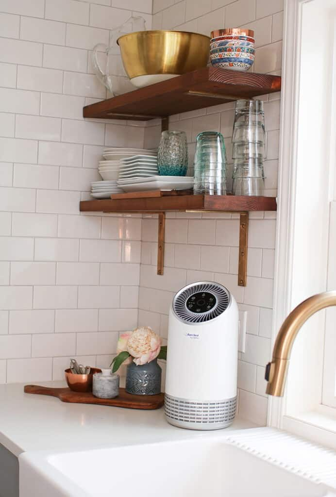 air filter by Clarifion on kitchen counter