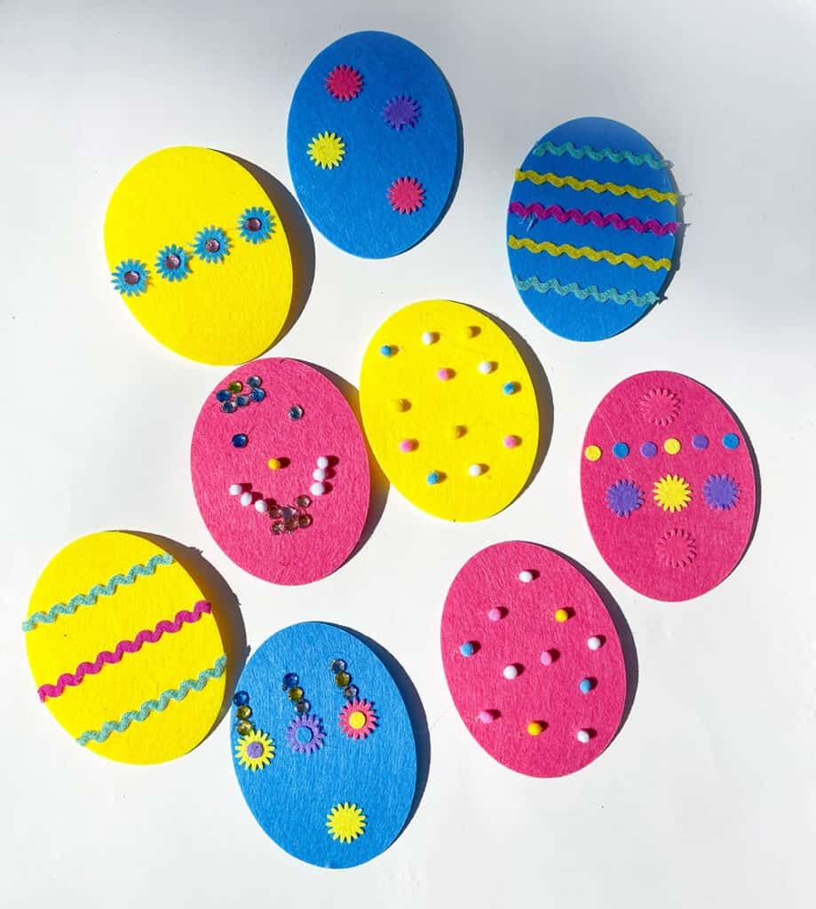 Easter felt egg decorating kit from Michaels