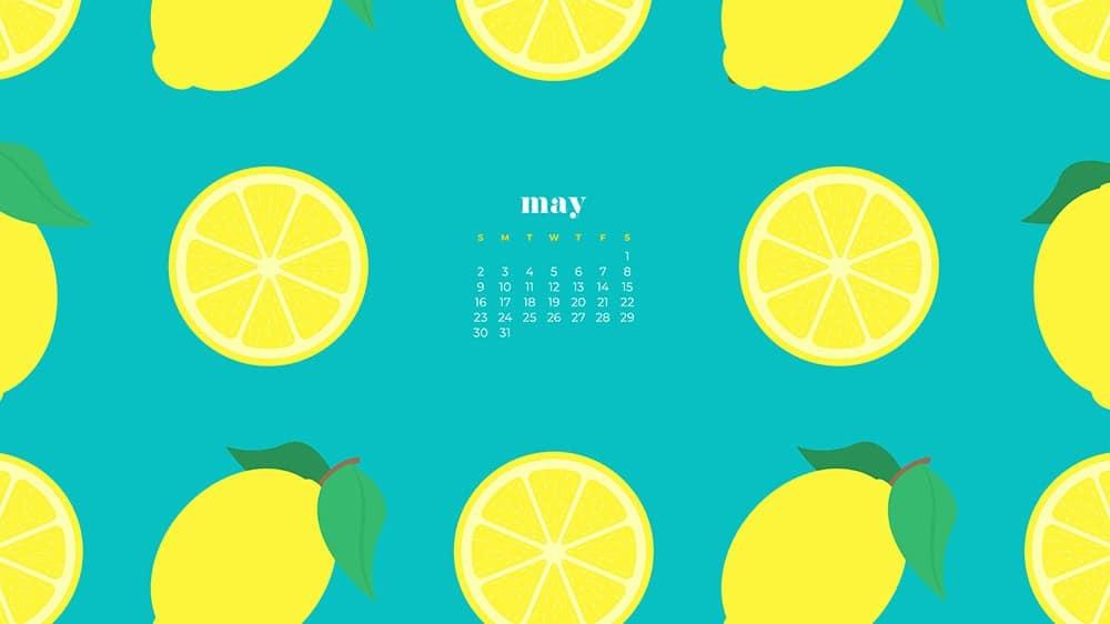 yellow lemon illustrations on a turquoise background