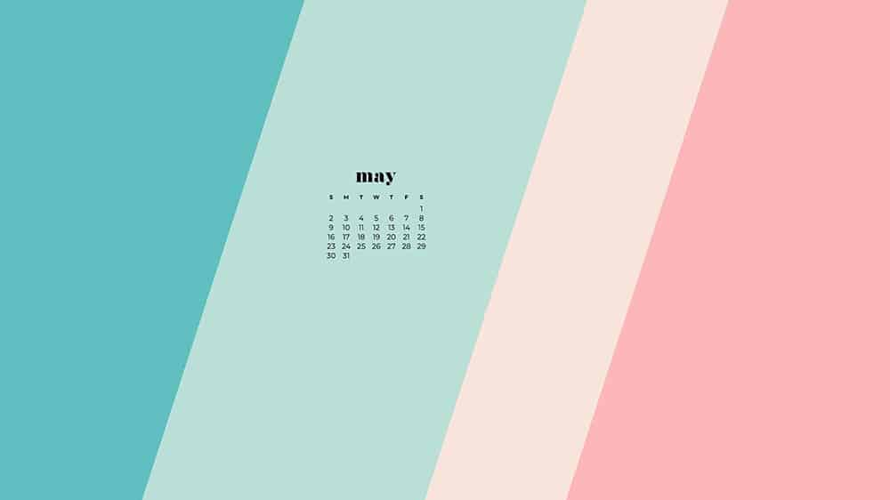 turquoise, aqua, pink, and cream diagonal stripes wallpaper for desktop with
