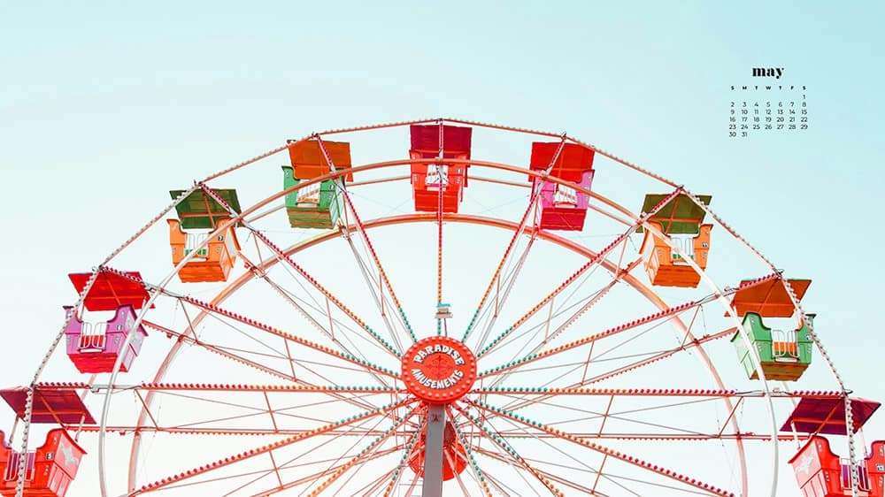 Colorful ferris wheel image as a may wallpaper