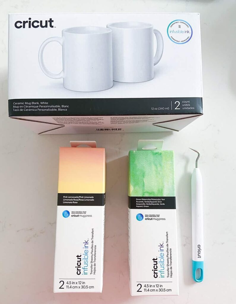Cricut Mug Press, mug blanks, infusible ink