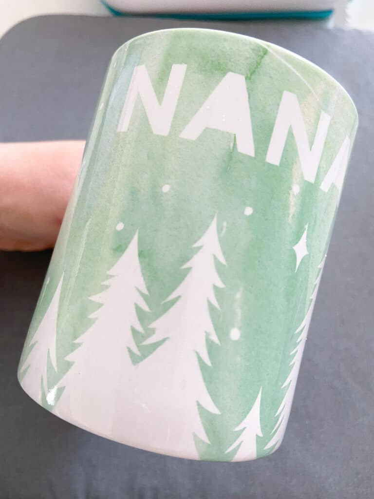 Finished NANA mug out of Mug Press gift for a Mother's Day gift basket