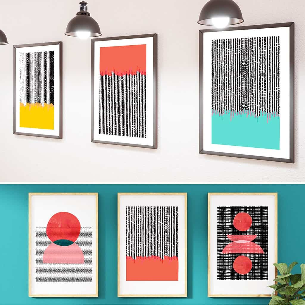 Abstract free printables – 30 modern, colorful designs to choose from!