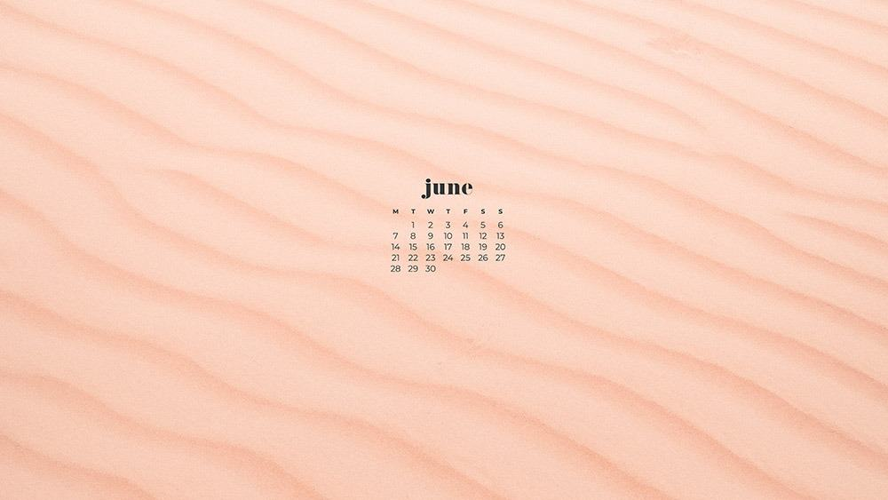 June 2021 wallpaper calendars – 30 FREE and cute options to dress your tech! Available in Sunday + Monday starts + no-calendar options.