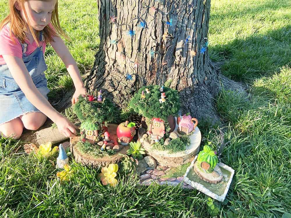 DIY gnome garden – a fun, easy & affordable tutorial. It's the perfect summer project for all ages, kids and adults.