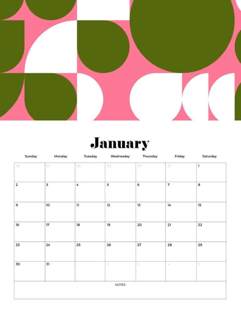 2022 free printable calendar vertical calendar
