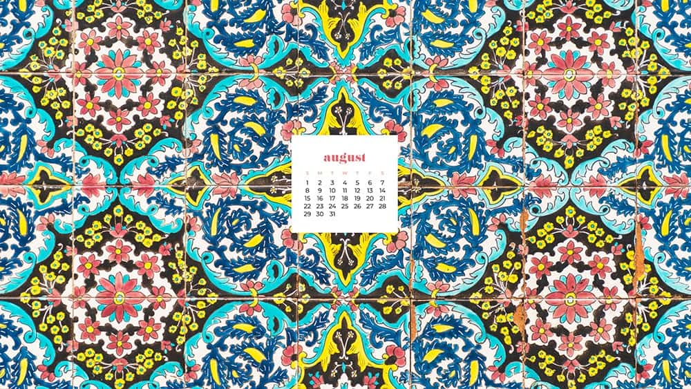 August 2021 - FREE wallpaper calendars in Sunday and Monday starts + no-calendar options. 33 designs for both desktop and smart phones!