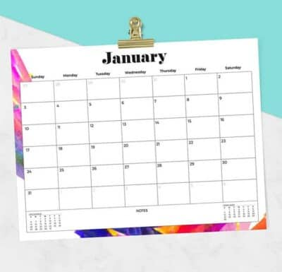 FREE 2021 Printable Calendars by oh so lovely blog