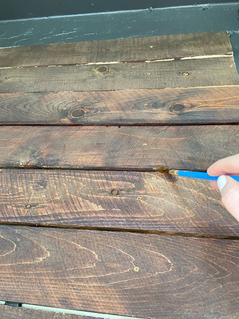 Staining sides of boards