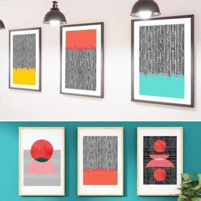 free printable modern art prints by oh so lovely blog