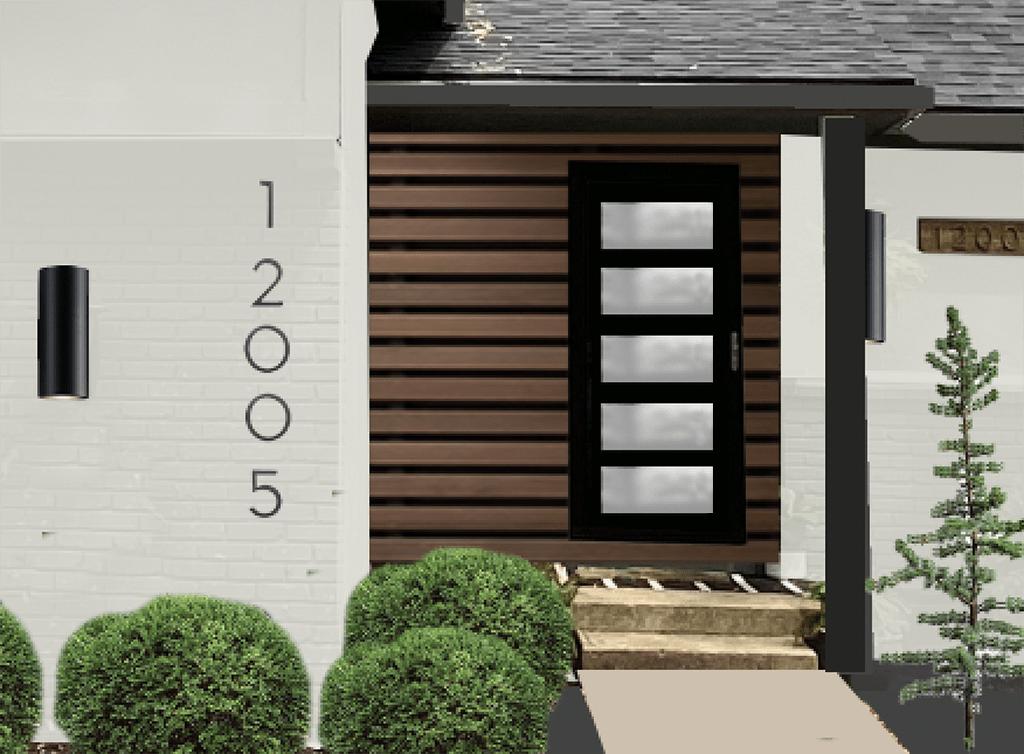 modern front door mockup