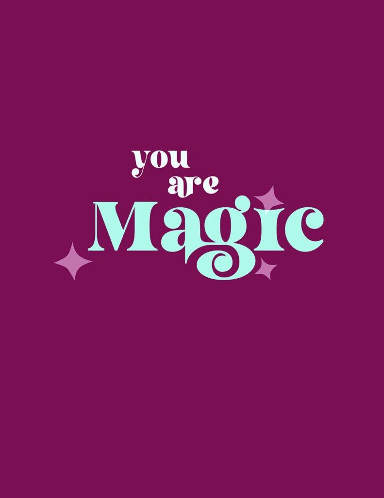 you are magic - shades of aqua and fuchsia