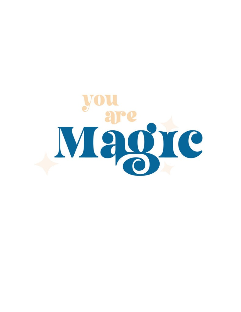 you are magic - shades of peach and blue