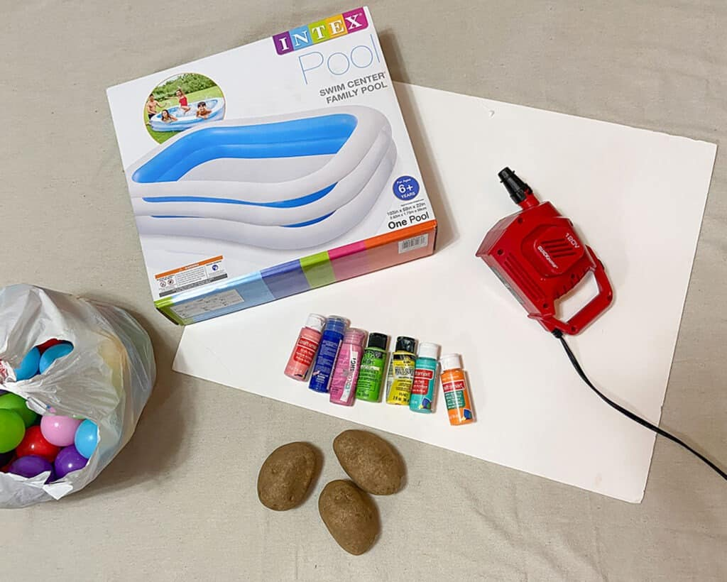 supplies to turn your kiddie pool into a kid lounge