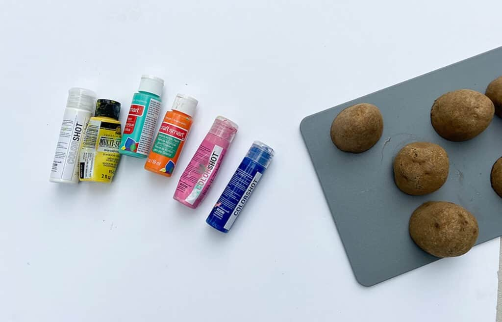 using potatoes as paint stamps