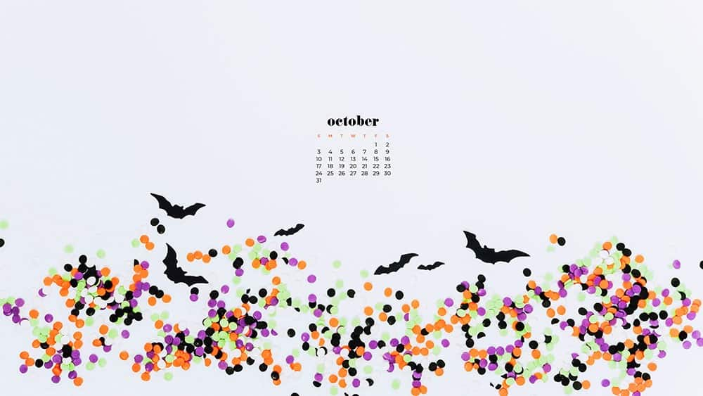 October 2021 - FREE wallpaper calendars in Sunday and Monday starts + no-calendar options. 35 designs for both desktop and smart phones!