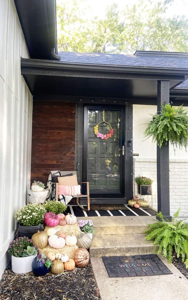 Fall front porch and window box decor tips